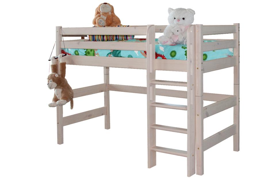 детская кровать чердак соня из массива вариант 5 купить в москве