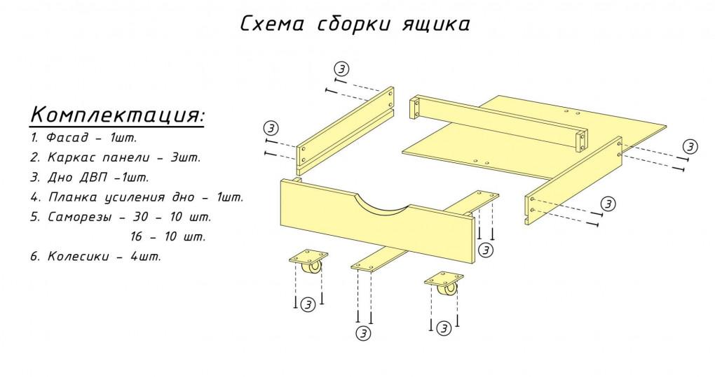 Схема сборки кровати неаполь